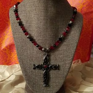 Jewelry - Swarovski Crystal necklace with Cross pendant
